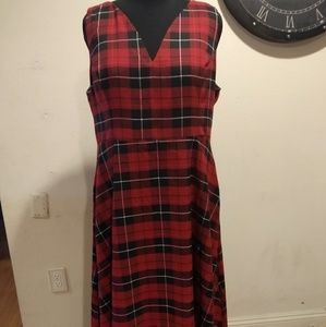 Collectif/Bright and Beautiful Plaid dress